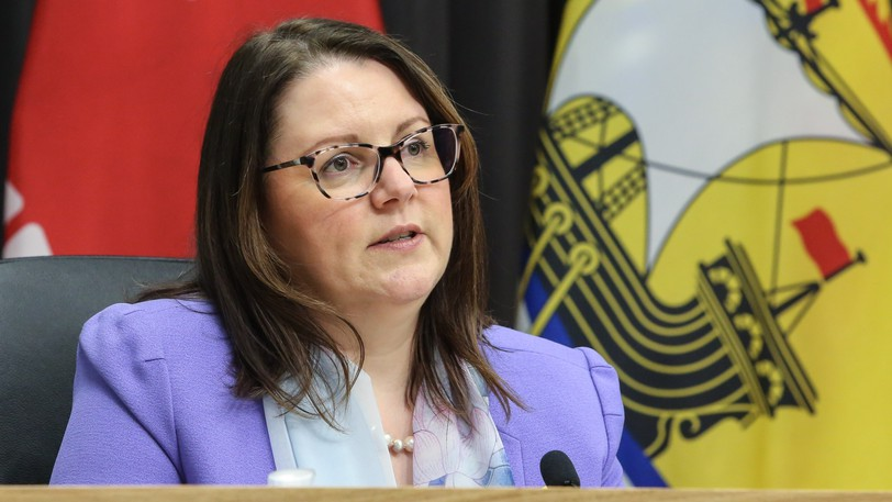 The province is reporting 16 new cases of COVID-19 in the province Wednesday and two of the cases are in the Bathurst region. Pictured is Dr. Jennifer Russell, chief medical officer of health, during a past press briefing.