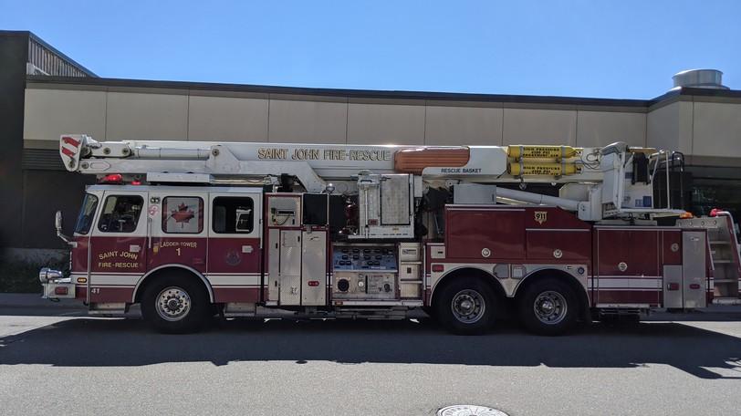 The Saint John Fire Department responded to two fires in Saint John on Thursday.