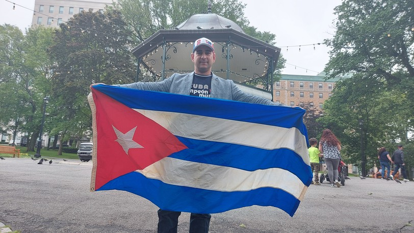 Yan Del Valle organized an SOS Cuba rally at King's Square in July in reaction to protests and demonstrations in his home country. He's started up a non-profit group to raise funds for Cubans.