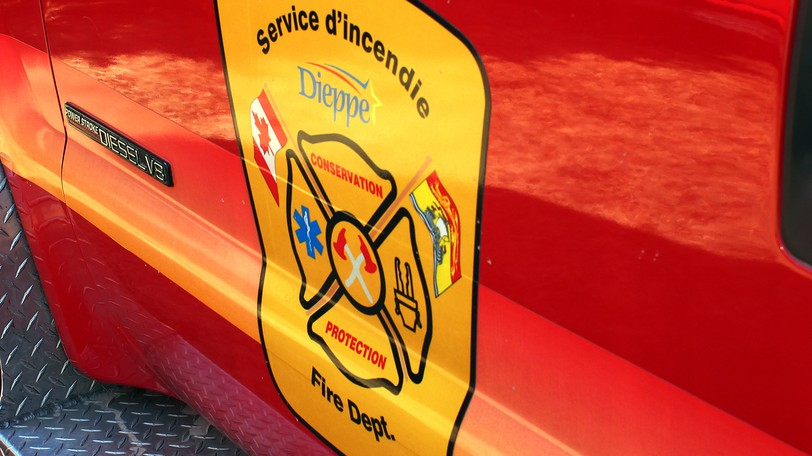 The Dieppe Fire Department was one of six departments that responded to a house fire in Scoudouc early Friday morning.