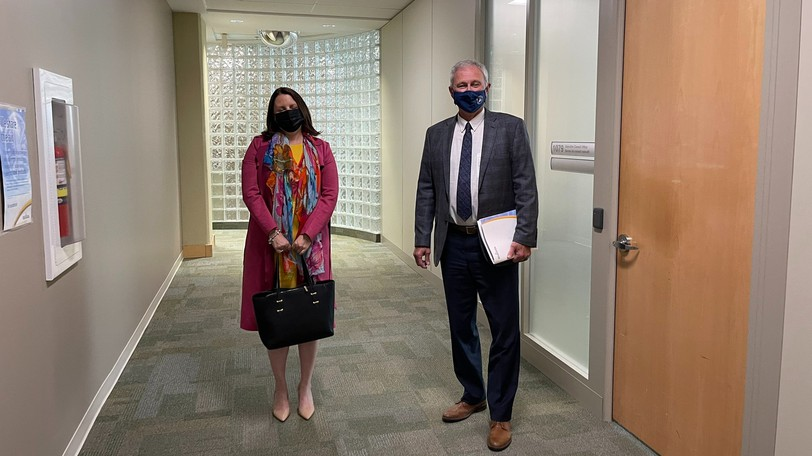 Chief Medical Officer of Health Dr. Jennifer Russell and Premier Blaine Higgs pictured the day they announced New Brunswick's early move to green. Ian Peach argues that decision is to blame for our current fourth wave.