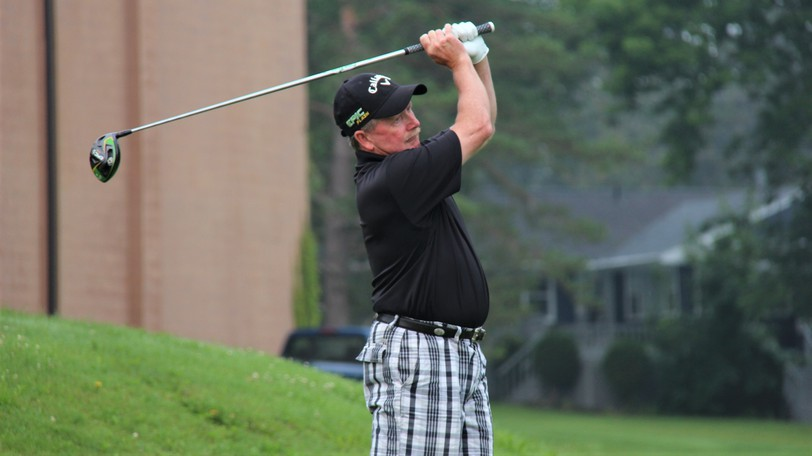 Darren Ritchie of Hampton, shown in this file photo, leads the Canadian senior men's golf championship by four shots with one round to go.