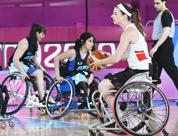 Danielle DuPlessis of Fredericton competed in her first international event for Canada at an Olympic qualifying tournament in Lima, Peru in 2019. She's in Tokyo for the Paralympics, with Canada's first game Wednesday at 2:45 a.m. against Great Britain.
