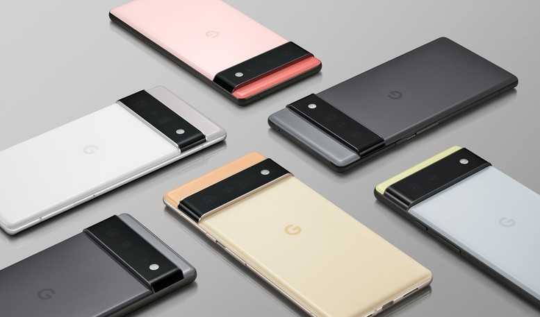 Google smartphones are seen in this submitted photo