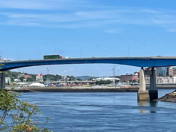 Construction on Saint John's Harbour Bridge started this summer, but it's expected to last six more years, according to the province.