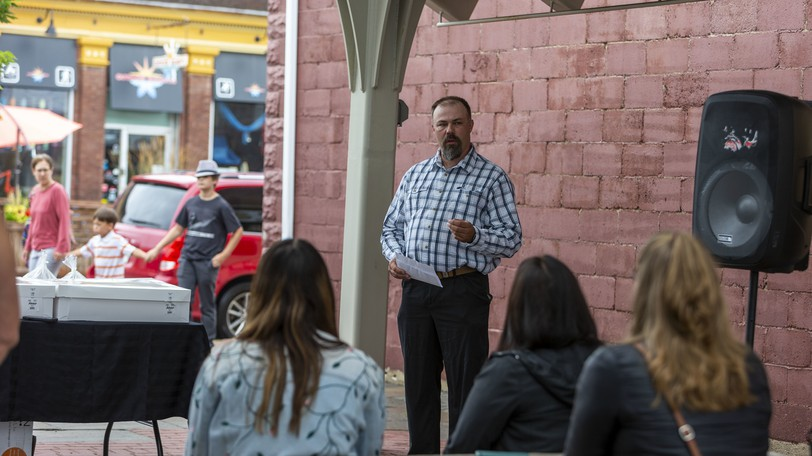 Sussex and District Chamber of Commerce President Paul Bedford speaks during an event earlier in August. The chamber president says Future Link is a new initiative teaming up business students to develop new ideas to help local businesses.