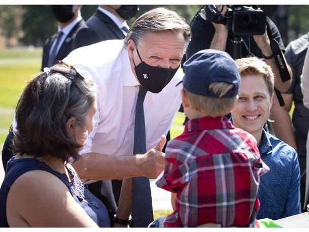 Quebec Premier Francois Legault pictured in Montreal earlier this month. The Quebec premier finds himself in a powerful position ahead of next month's federal election, writes Chantal Hébert.