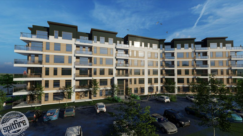 A 75-unit apartment building is being proposed for 20 Technology Dr.