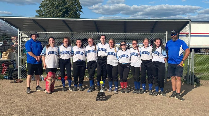 After going undefeated in the regular season, the Sussex Storm under-16/19 team took home theJohn Jellison Memorial Fundy League Championship Trophy this weekend, as did the under-12/14 squad.