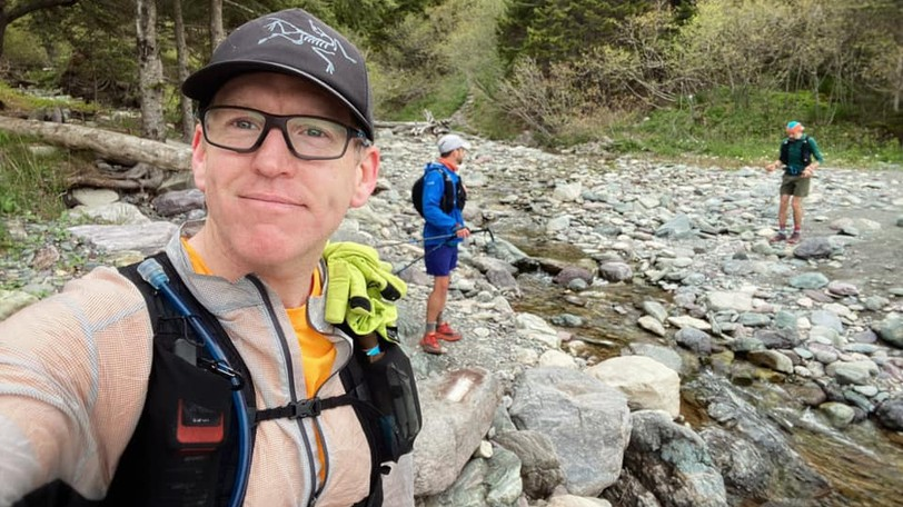 Tim McDonough, shown here training on the Fundy Foot Path for the Quebec Mega Trail Race, is this week'sPerson on The Run.