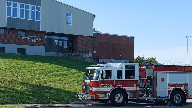 Firefighters and other first responders were called to an ammonia leak at Peter Murray Arena on Tuesday morning.
