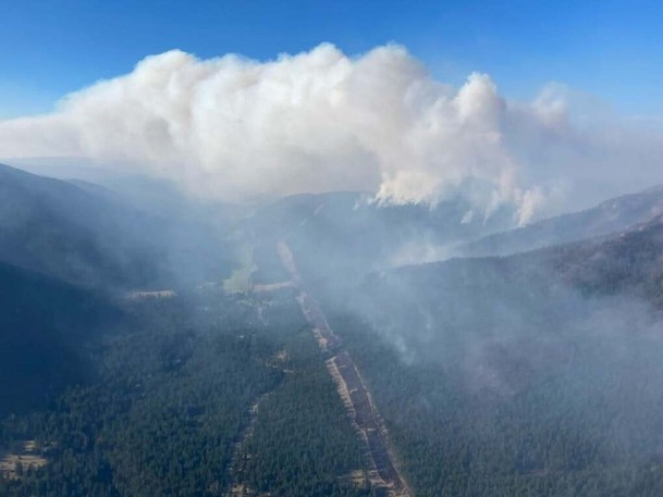 The Tremont Creek wildfire near Tunkwa Lake, B.C.