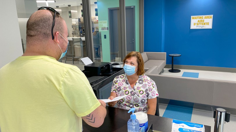 Three different COVID tests are now available for a fee at a new clinic at the Fredericton International Airport with results available as quickly as 15 minutes.