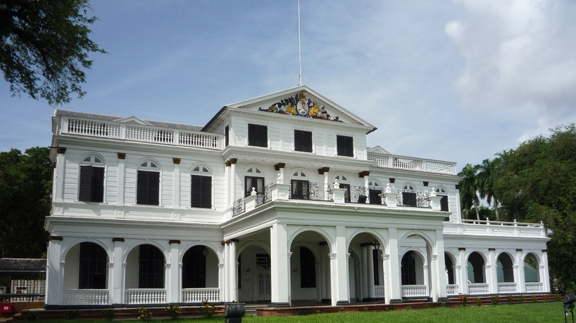 Paramaribo is the capital of Suriname, a multi-ethnic country on the northern coast of South America.