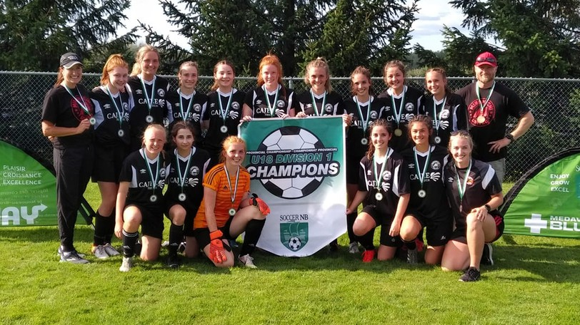 The Miramichi United Soccer Club under-18 girls' squad won its second straight provincial championship Sunday in Riverview with a 2-0 victory over Chaleur.