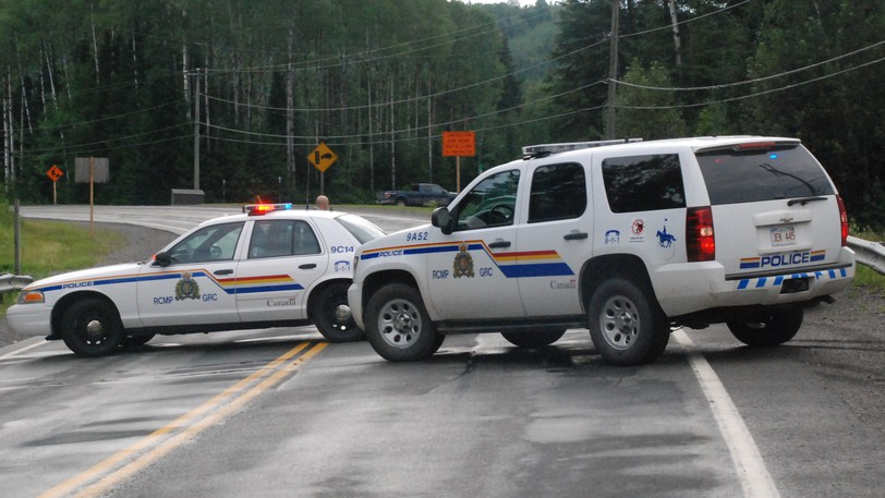 RCMP vehicles block Route 17 west of Campbellton in this file photo. With a new deal ratified by RCMP members nationally, which will provide for retroactive raises and raises going forward to 2023, municipal leaders are concerned how their communities can continue to pay rising costs of policing.