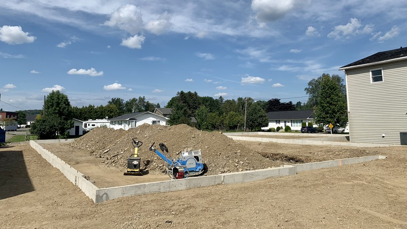 Work is underway on a new medical clinic building on McCain Street in Florenceville-Bristol. Town council agreed to a gap in the lease revenue for five years to help the clinic until it can be filled with practitioners.