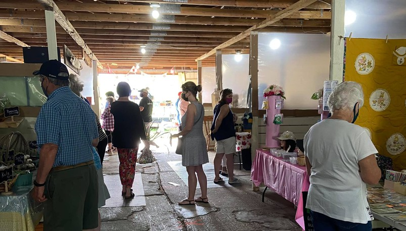 The Upriver Country Market is held every Saturday during the summer in Bass River in Kent County.