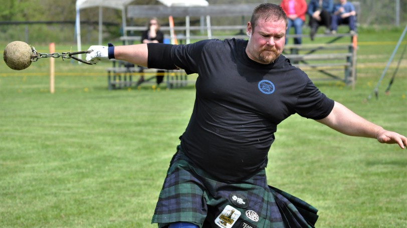 Athletes will put their strength and skill to the test at a Highland Games to be held at Veterans Field in Perth-Andover on Saturday, Aug. 28, starting at 11 a.m. Almost 30 competitors from New Brunswick, Nova Scotia and Ontario are expected to take part. This file photo shows a competitor at the 2019 Gathering of the Scots.