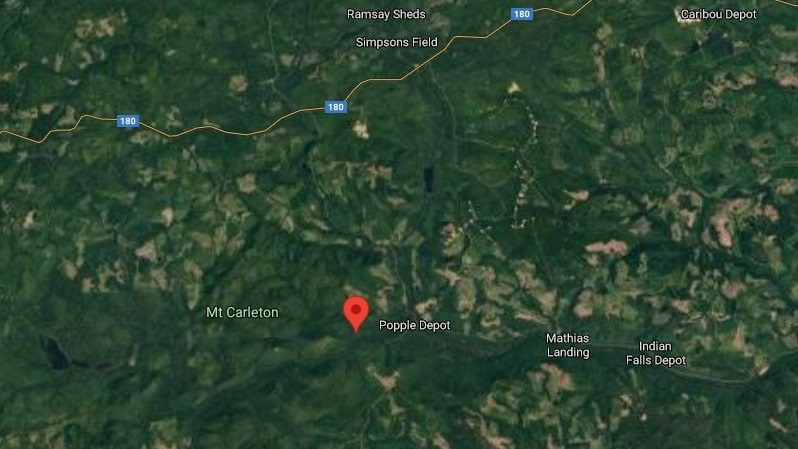 """A forest fire burning at Old River Road, between Mount Carleton Provincial Park and Popple Depot, has been declared """"under control"""" according to the Department of Natural Resources and Energy Development."""