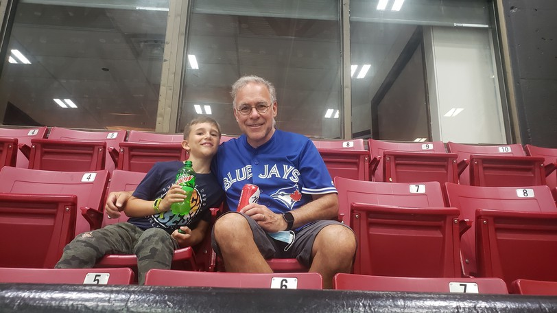 Sabian Bravenor and grandfather Mike were among the crowd at the Aitken Centre to watch the game between the Saint John Sea Dogs and Moncton Wildcats Thursday.