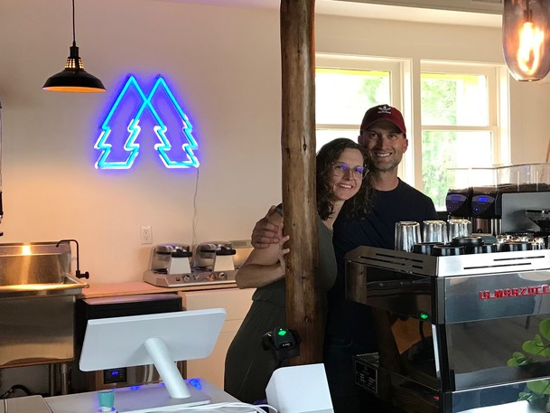 Marie-Paul Deveau and her husband Luc Doucette are bringing a city feeling to Rogersville by opening a coffee shop called ForêStation in the Via Rail train station.