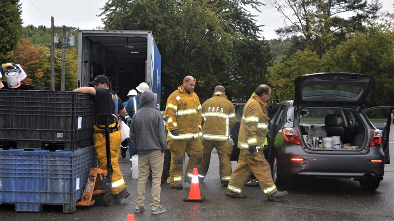 Members of the Perth-Andover Fire Department participated in the Hazardous Waste Disposal Day in 2019. This year's Hazardous Waste Disposal Day will be held at the River Valley Civic Centre parking lot in Perth-Andover on Aug. 28 from 8 to 10:30 a.m.