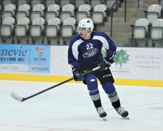 Saint John Sea Dogs first year defenceman Vincent Despont has brought a hard-nosed style of game to training camp and has been a hit with the coaching and management staff.