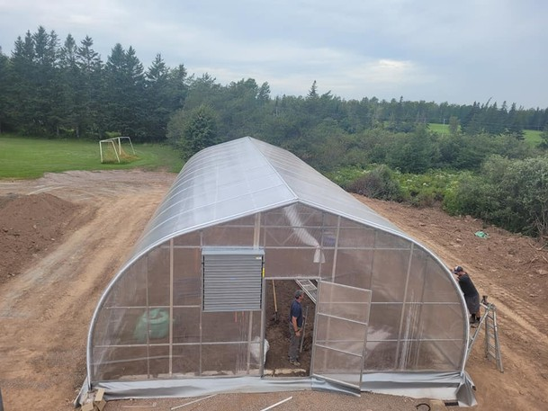 A new geothermal climate battery greenhouse was installed at Port Elgin Regional School this week. The greenhouse will be an educational tool for the students and provide fresh local produce for the school.