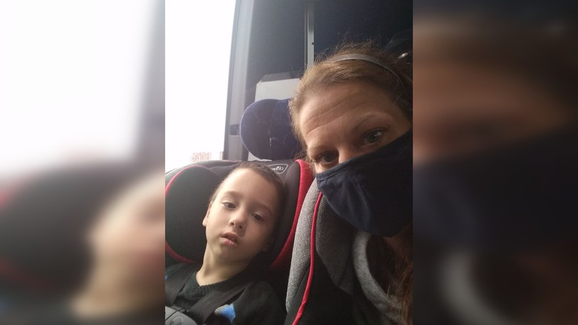 Kerri Despres with her two-year-old son Zackary whosuffers from several health issues.Despres said on Fridayshe's not in favour of getting rid of classroom bubbles and reduced class sizes.