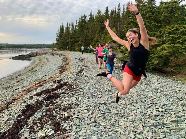 Saint John Trail Running Women's Only Group members enjoy themselves during a run at Irving Nature Park.