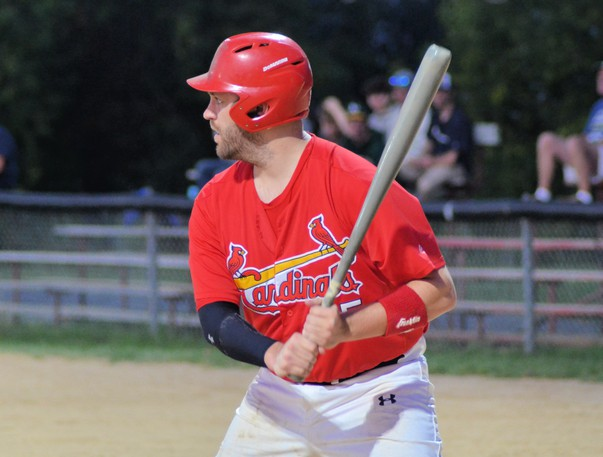 Andrew Carter and the Miramichi Mike's Bar and Grill Cardinals defeated the Caraquet Acadiens 20-5 Wednesday in Game 2 and 9-4 Tuesday in Game 1 of the Miramichi Valley Baseball League's best-of-three playoff miniseries.