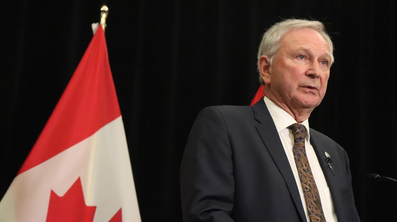 Starting Wednesday, travellers to the province could face fines if they fail to show proof of COVID-19 vaccinationand travel registration upon request. Premier Blaine Higgs is pictured in this file photo.