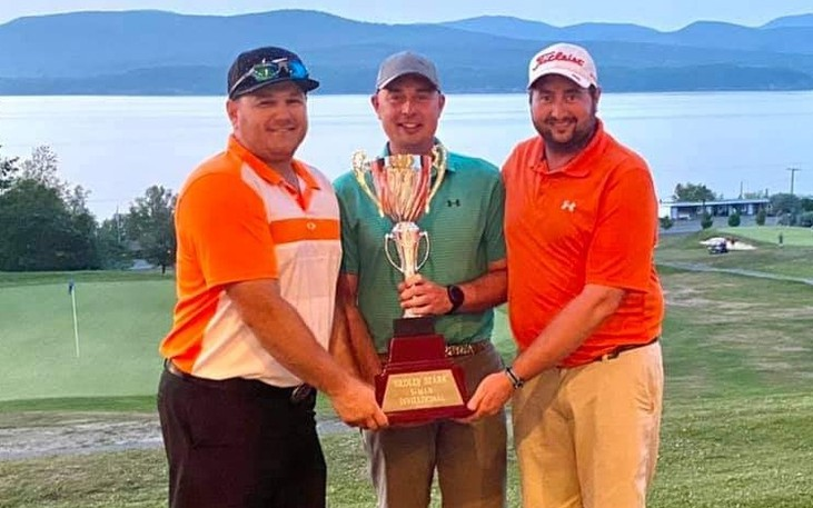 Derek Mulcahy, Jeff Paradis and Remi Paradis won the annual Headley Stark Three-Man Scrmable on the weekend with a pair of 11-under 59s.
