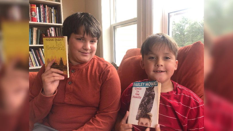 Brothers Gideon and Cedar Penny are excited for this year's Battle of the Books competition. On Sept. 1, 20 kids will compete to see how well they know 10 classics they read over the summer.