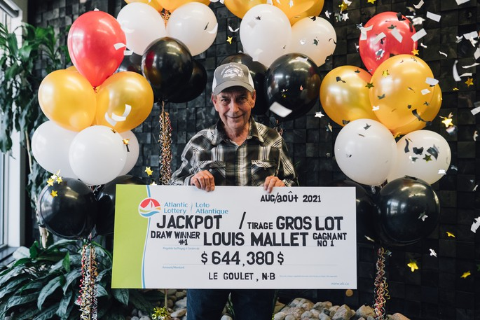 Louis Mallet of Le Goulet won the $644,380 jackpot after he entered his Jackpot Stratch'N Win tickets into Atlantic Lottery's 2Chance contest website, according to a press release issued by Atlantic Lottery Monday.