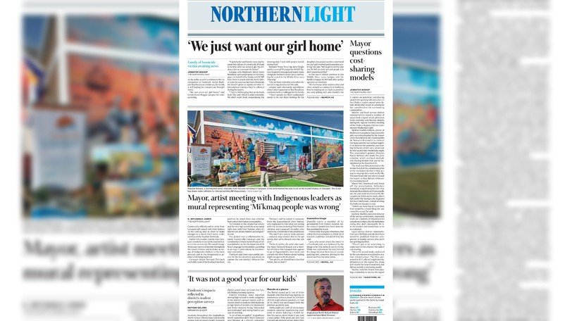 Pictured is the front page of the Aug. 24 edition of The Northern Light.