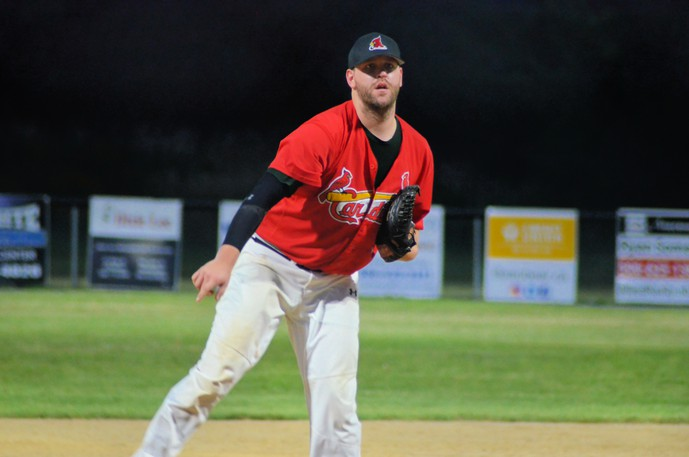 Andrew Carter earned the win in his playoff pitching debut with the Miramichi Mike's Bar and Grill Cardinals. The Cardinals beat the Chatham Head Tigers 7-1 in Game 2 of the best-of-five Miramichi Valley Baseball League semifinals Monday at Memorial Field.