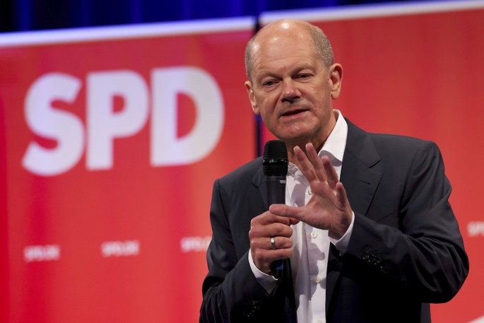Olaf Scholz, chancellor candidate for the Social Democratic Party (SPD), led his party to a first place finish for the first time since 2002.