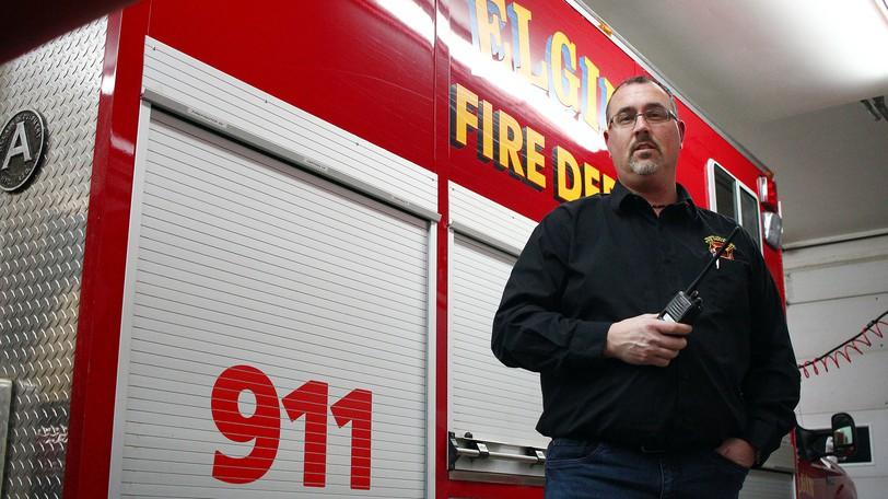 Kent Steeves, chief of the Elgin volunteer fire department.