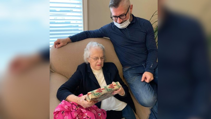 Jerry Hicks, right, is shown with his mother Dorothy Hicks, 90. Jerry said a temporary overnight closure of the Sackville Memorial Hospital emergency department prevented him from being with his mother during her final moments on Aug. 11.