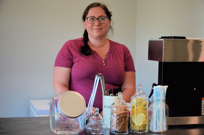 """Shaunessy McKay, owner of the new Doreen's Café in Natoaganeg First Nation, opened the coffee shop Aug. 20 in memory of her grandmother and in effort to """"build community"""" in the area."""