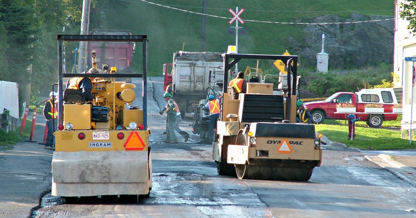 Paving and patching in Campbellton were put on hold for about 10 days when there were production issues with a local asphalt plant.