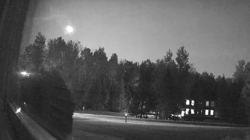 The International Meteor Organization received 10 reports of a fireball over Maine, New Brunswick, Nova Scotia and Vermont on Saturday night around 10:20 p.m. Atlantic time. Video footage captured by Maine resident Tonya Oliver is shown in a screenshot.