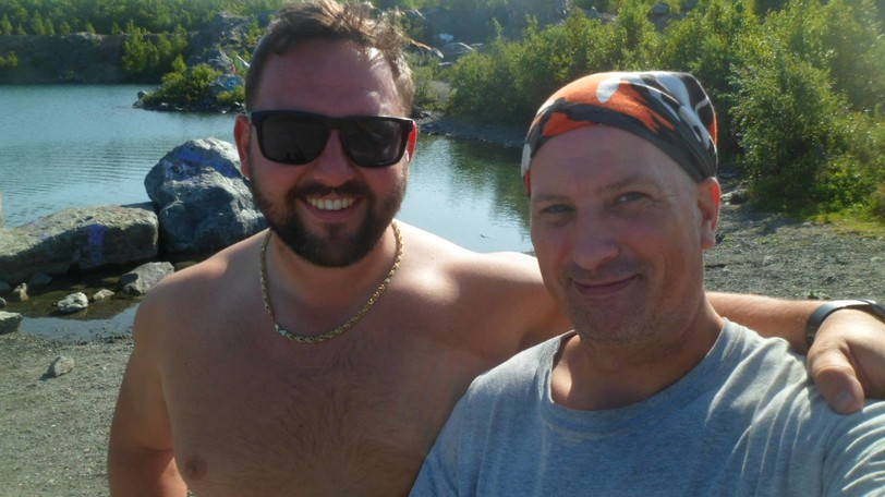 Andrew Baskin, left, couldn't believe it when Pete Nickerson, right, found his lost wedding ring in the waters of The Cuts. The ring has a lot of sentimental value to Baskin and his wife.