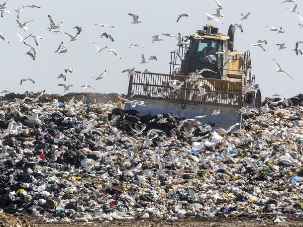 Stephen Poloz says Canada must deal with methane from landfills.