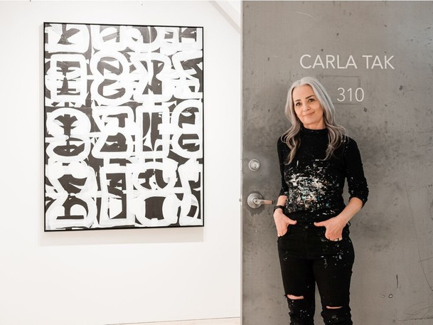 Carla Tak, an abstract painter who works out of Parker Street Studios in Vancouver.