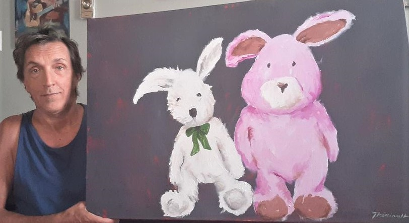 Michel Thériault's exhibitRabbits and other curiosities will open Aug. 28 and run until Oct. 30 at the Bathurst Public Library in Bathurst. The exhibit will feature a variety ofThériault's paintings, the majority of works will be of rabbits.
