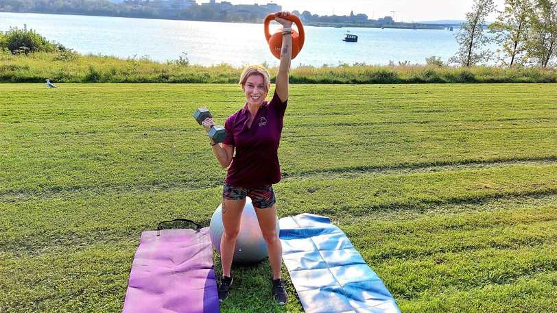 Certified personal trainer Jan Taylor launched Miz-Fits Mobile Training shortly after the pandemic arrived. She packs the trunk of her car with mats and weights and takes the workout to you.