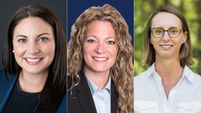 The three lead contenders in the federal election for the riding of Fredericton are all women: from left, Jenica Atwin, Andrea Johnson and Nicole O'Byrne.
